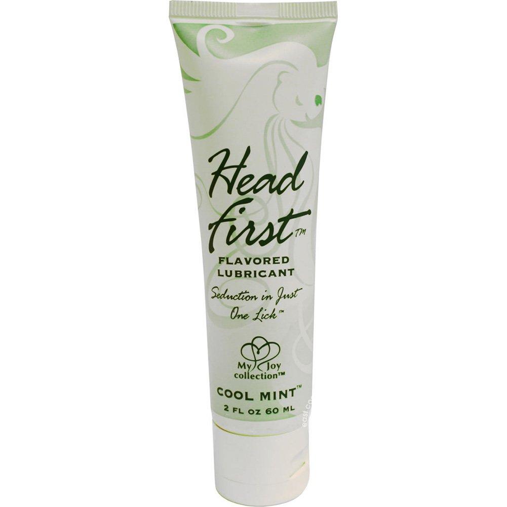 Head First Flavored Personal Gel Lubricant, 2 Fl.Oz (60 mL), Cool Mint