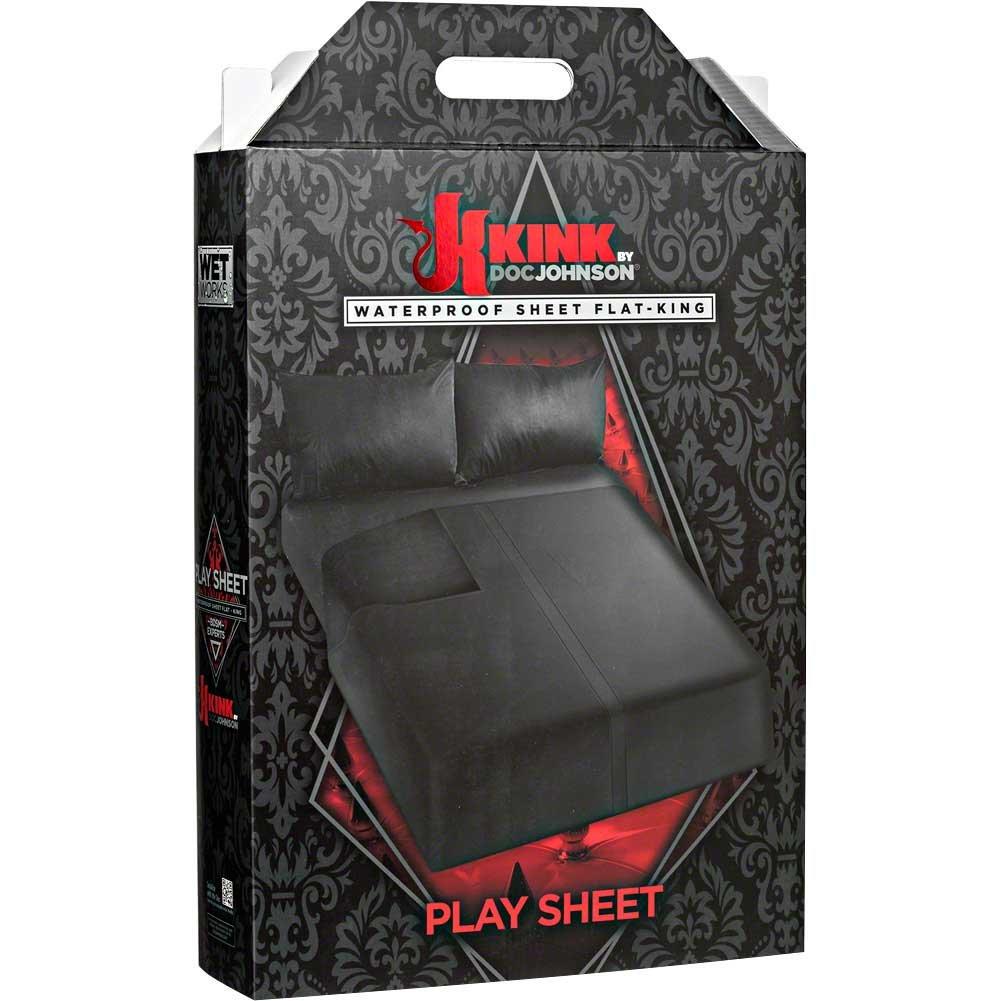 KINK by Doc Johnson Wet Works Waterproof Flat Play Sheet, King, Black