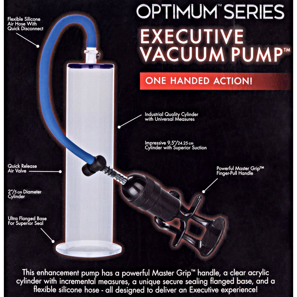 "Optimum Series Executive Vacuum Pump, 9.5"" by 2"", Clear/Blue"
