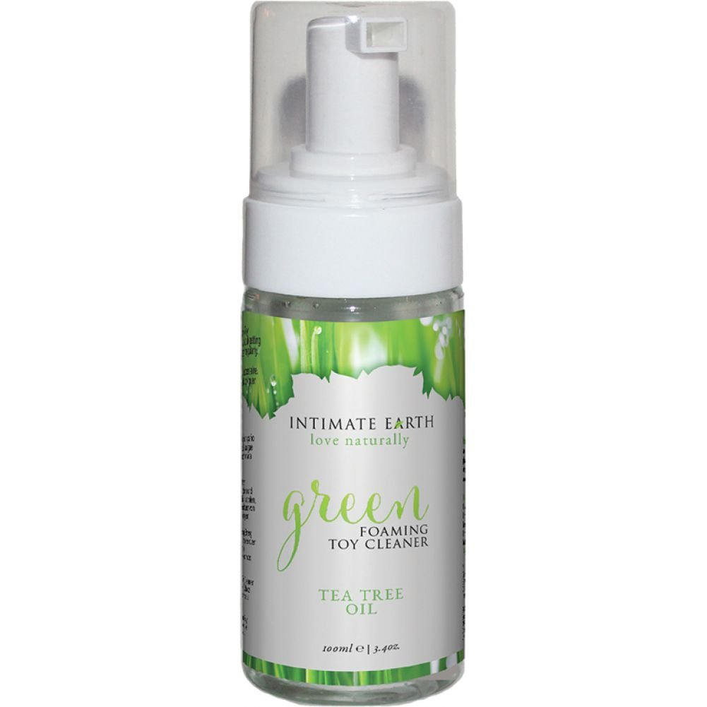 Intimate Earth Green Foaming Toy Cleaner with Tea Tree Oil, 3.4 Fl.Oz (100 Ml)
