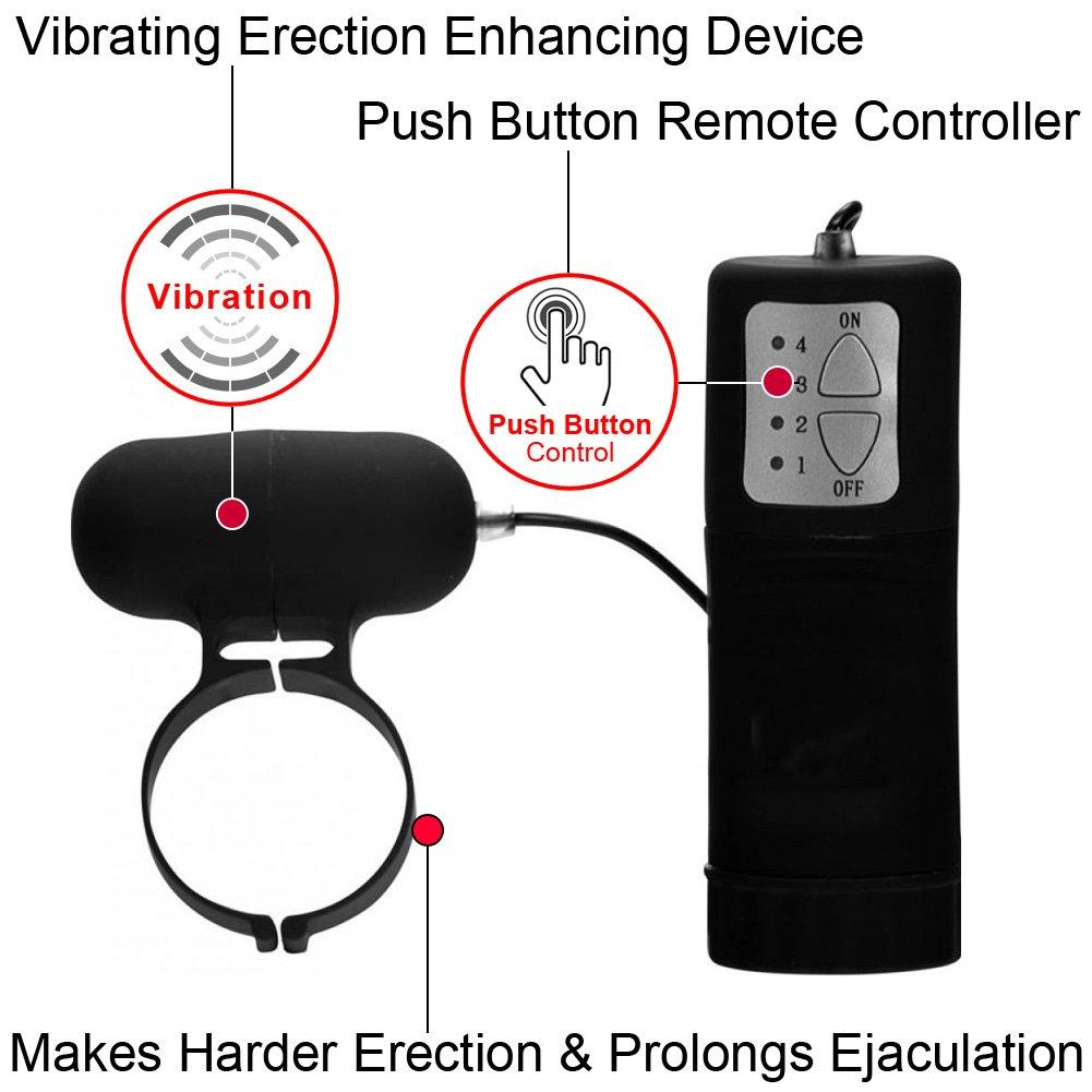 Linx Aqua Silks Vibrating Cock Ring with Remote, Black