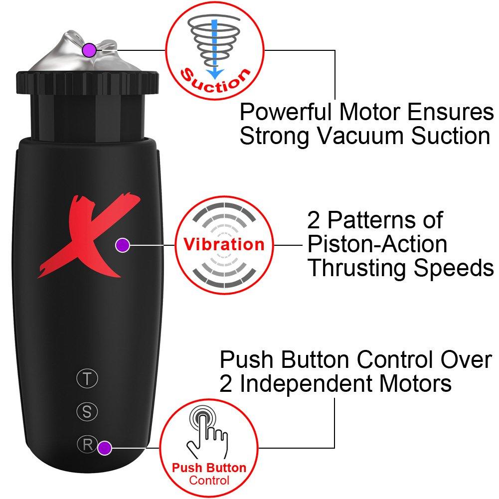 PDX Elite Moto Bator Stroker, Crystal Clear