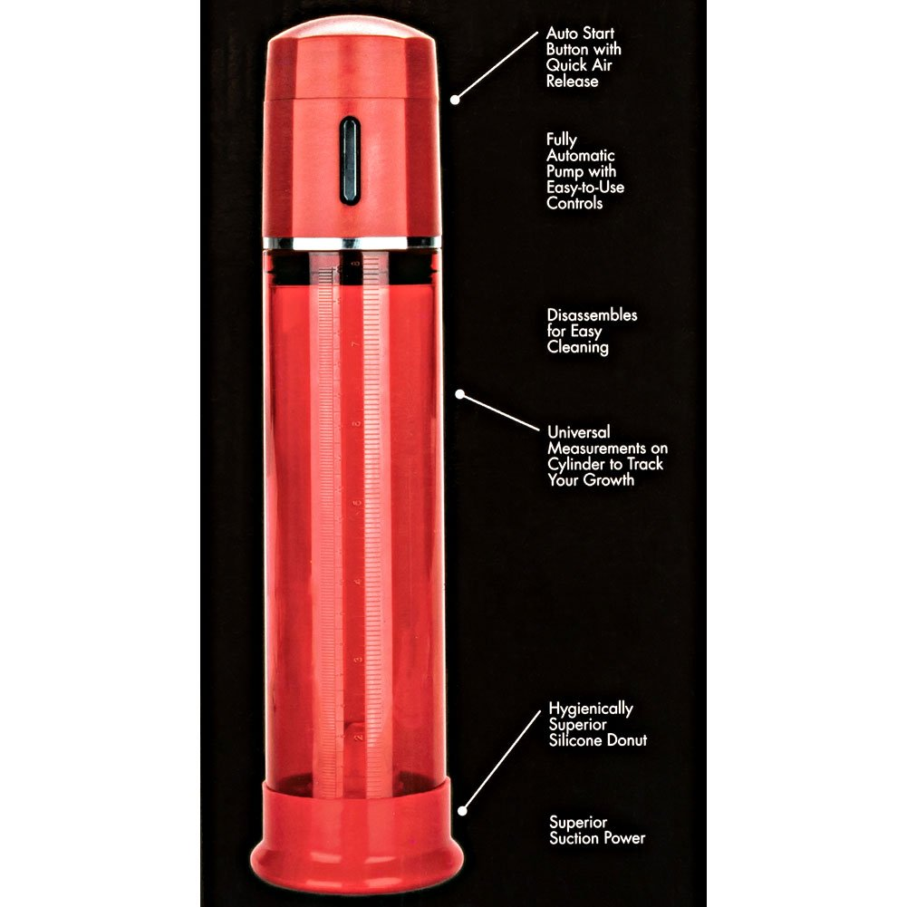 "Optimum Series Advanced Firemans Pump, 8.25"" by 2.75"", Red"