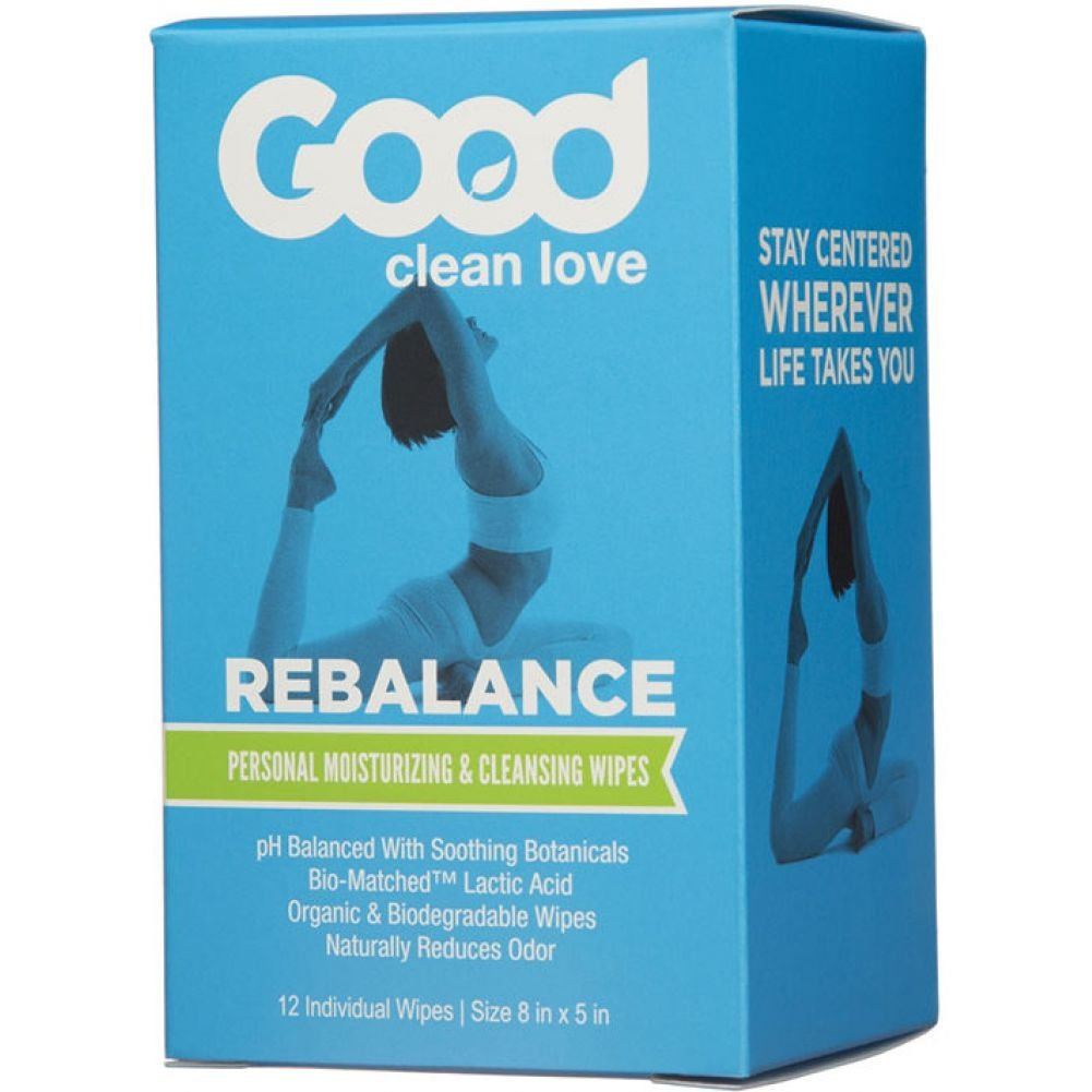 Good Clean Love Rebalance Personal Cleansing Wipes, 12 Count