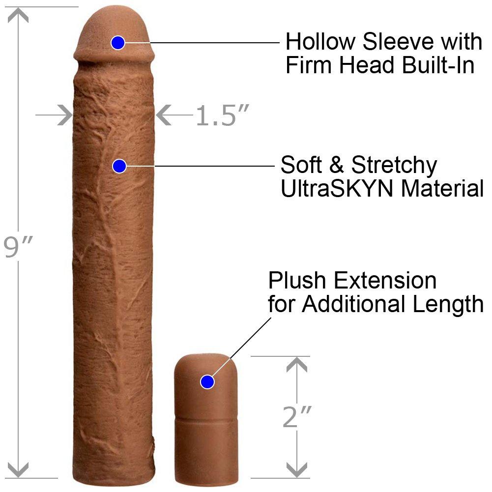 "3"" Extra Length UltraSkyn Adjustable Penis Xtend It Kit, 9"", Caramel"