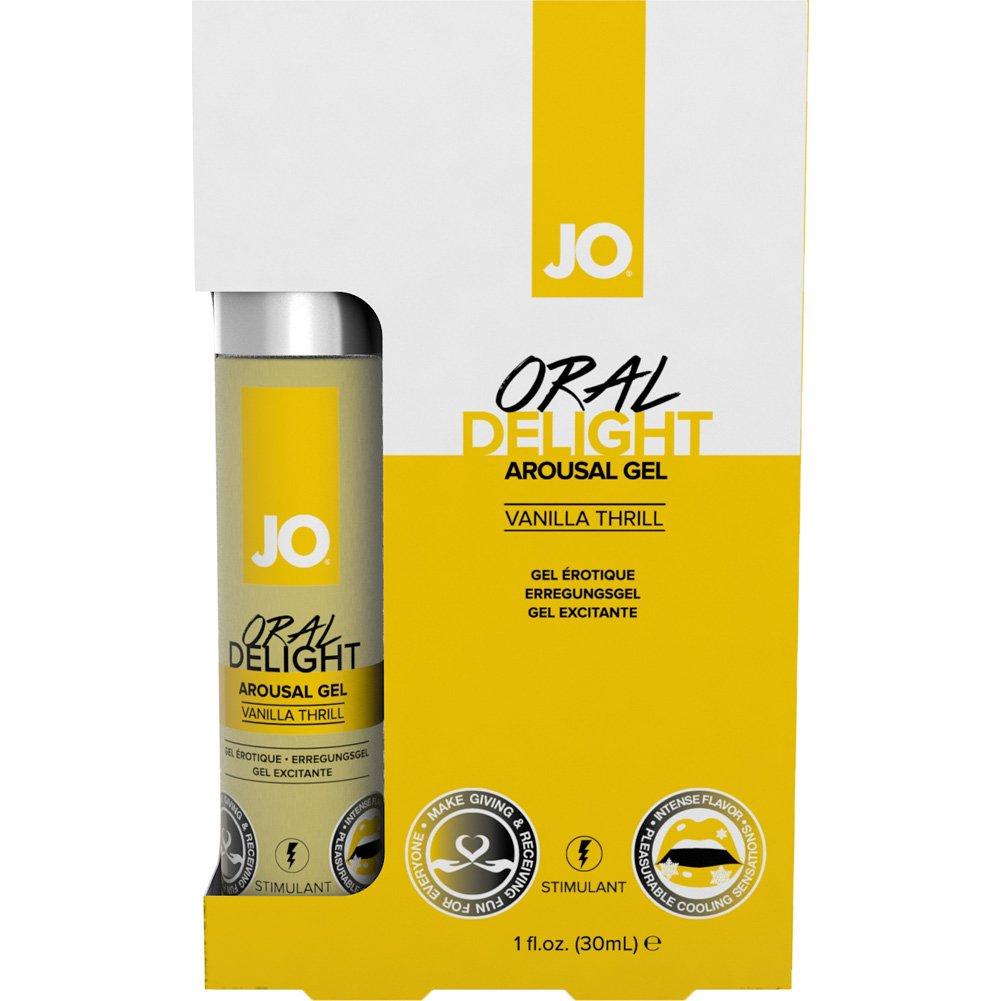 JO Oral Delight Flavored Arousal Gel, 1 Fl.Oz (30 mL), Vanilla Thrill