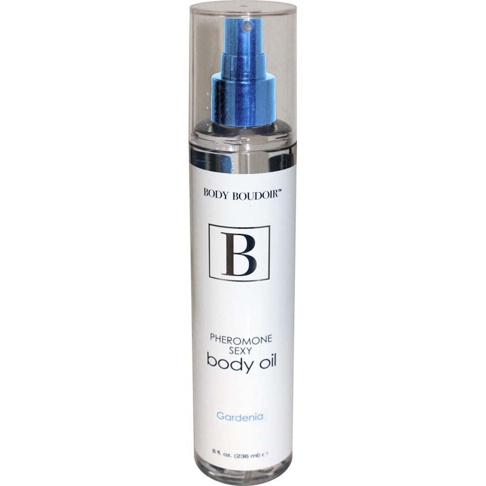 Body Boudoir Pheromone Sexy Body Oil for Sensual Massage, 8 Fl.Oz (236 mL), Gardenia