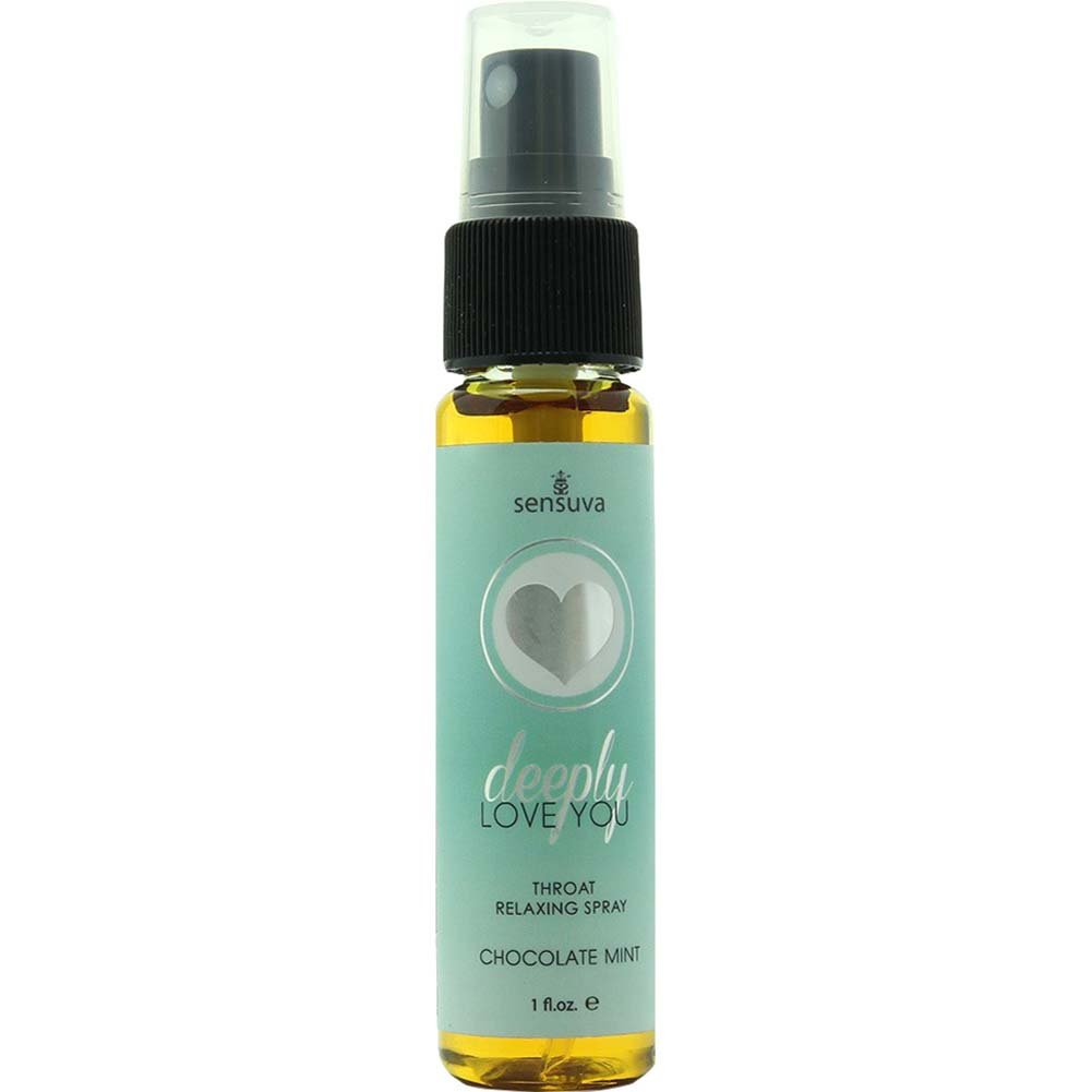 Sensuva Deeply Love You Throat Relaxing Spray, 1 Fl.Oz (30 mL), Chocolate Mint
