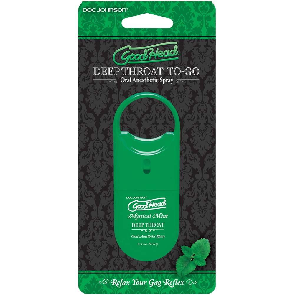 GoodHead To-Go Deep Throat Oral Sex Spray, 0.33 Ounce, Mystical Mint