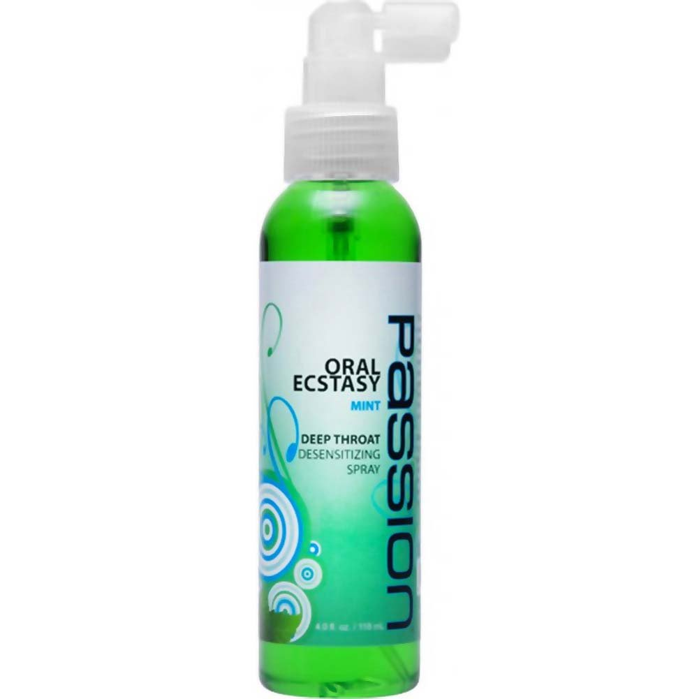 Passion Oral Ecstasy Deep Throat Desensitizing Spray, 4 Fl.Oz (118 mL), Mint