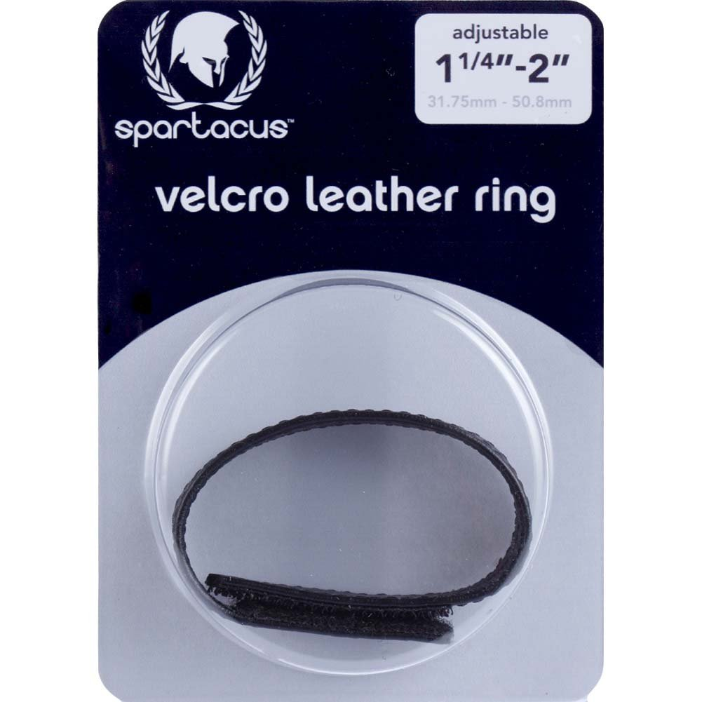 Spartacus Sewn Garment Leather Velcro Cock Ring, Black