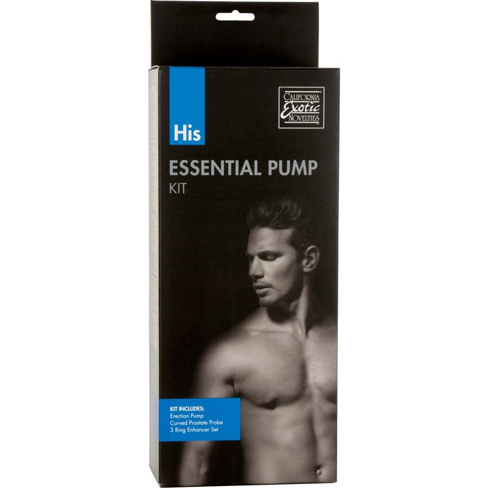 """His Essential Pump Kit with Pump, 7.75"""" by 2.25"""", Clear/Black"""