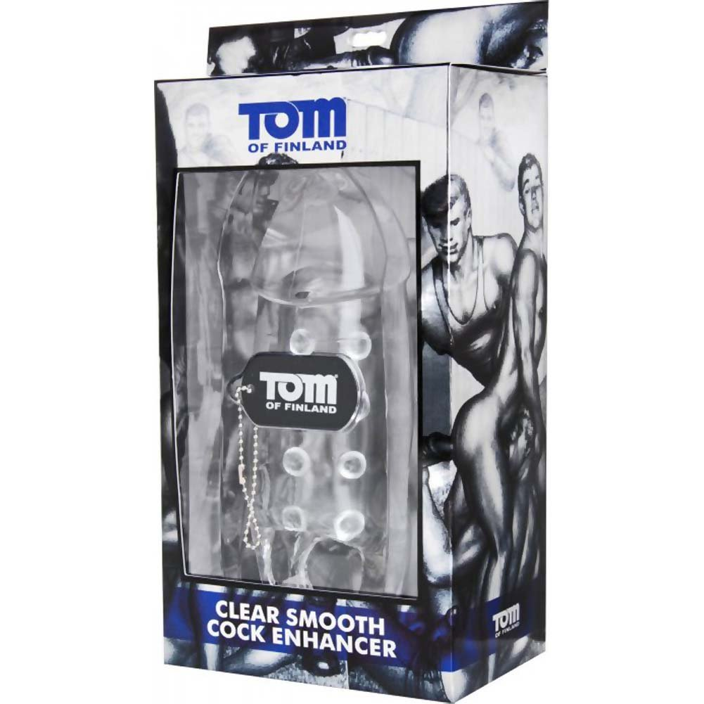 "Tom of Finland 2.5"" Extra Length Smooth Cock Enhancer, 8"", Clear"