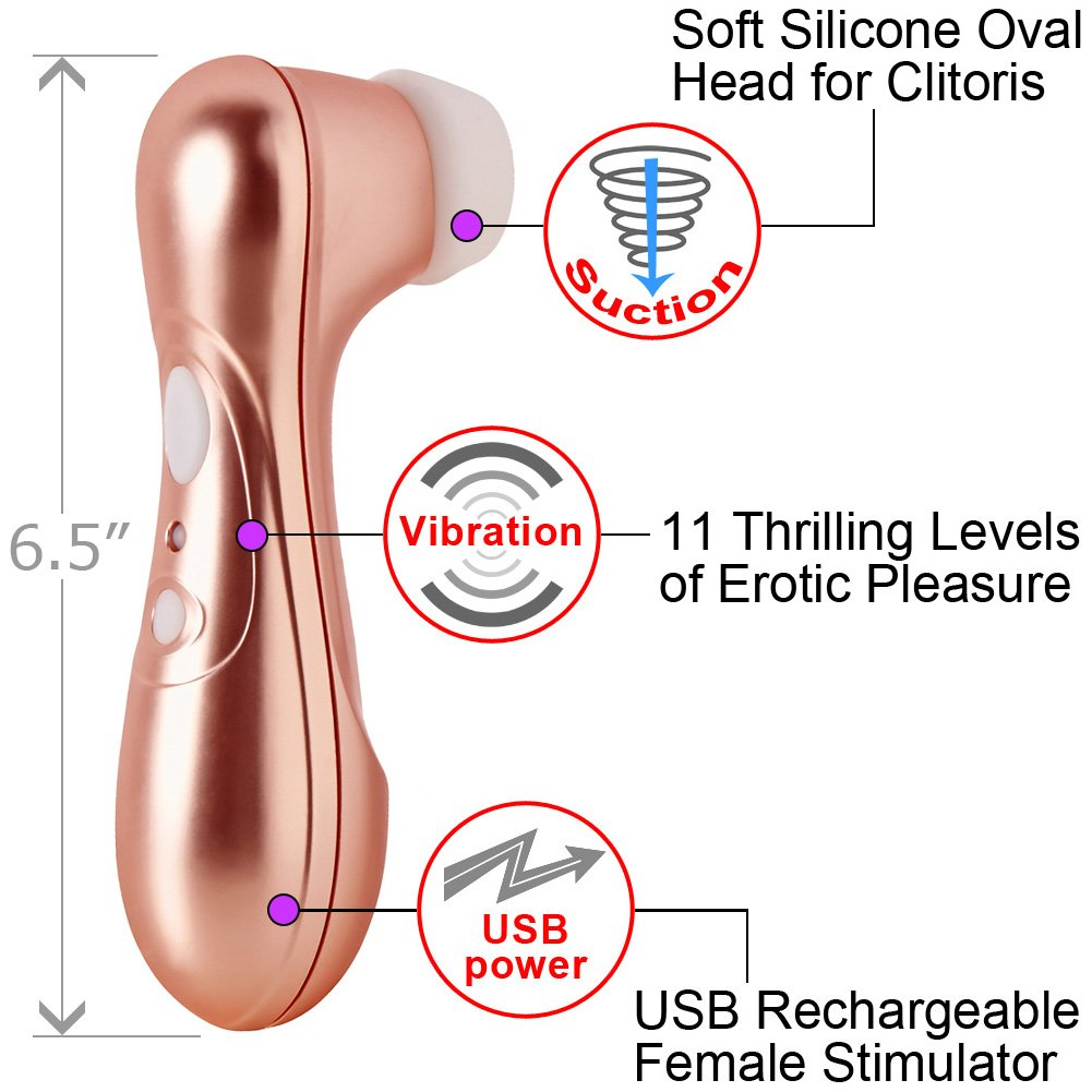 "Satisfyer Pro 2 Rechargeable Female Sensual Stimulator, 6.5"", Bronze"