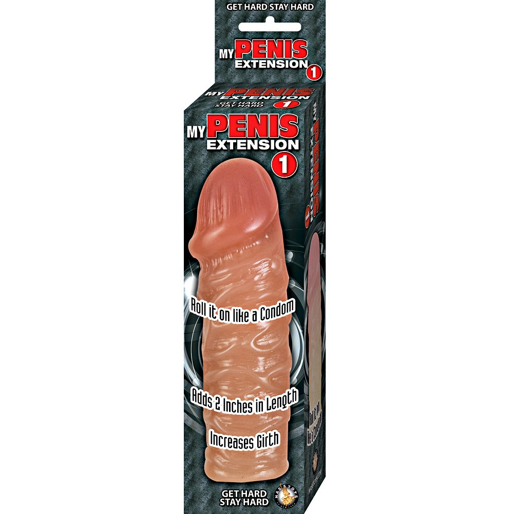 """2"""" Extra Length Thick Penis Extension Condom, 5.5"""", Brown"""