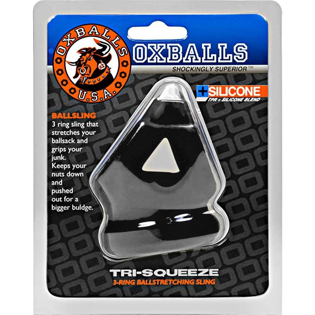 OxBalls Tri-Squeeze Silicone Cocksling Ballstretcher, Black
