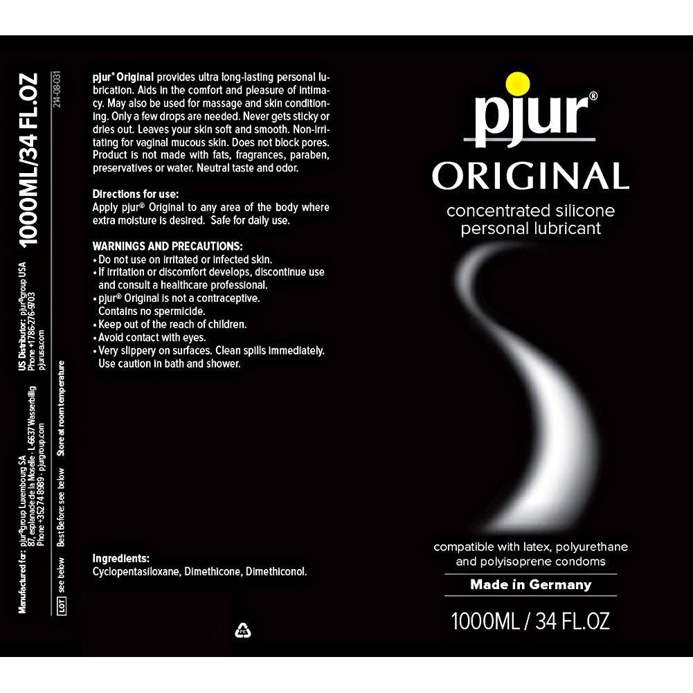 Pjur Original Silicone Based Intimate Lubricant, 34 Fl.Oz (1000 mL)