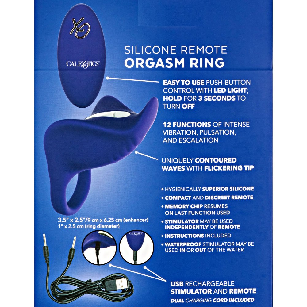 """Cal Exotics Silicone Orgasm Ring with Wireless Remote, 1"""", Passion Purple"""