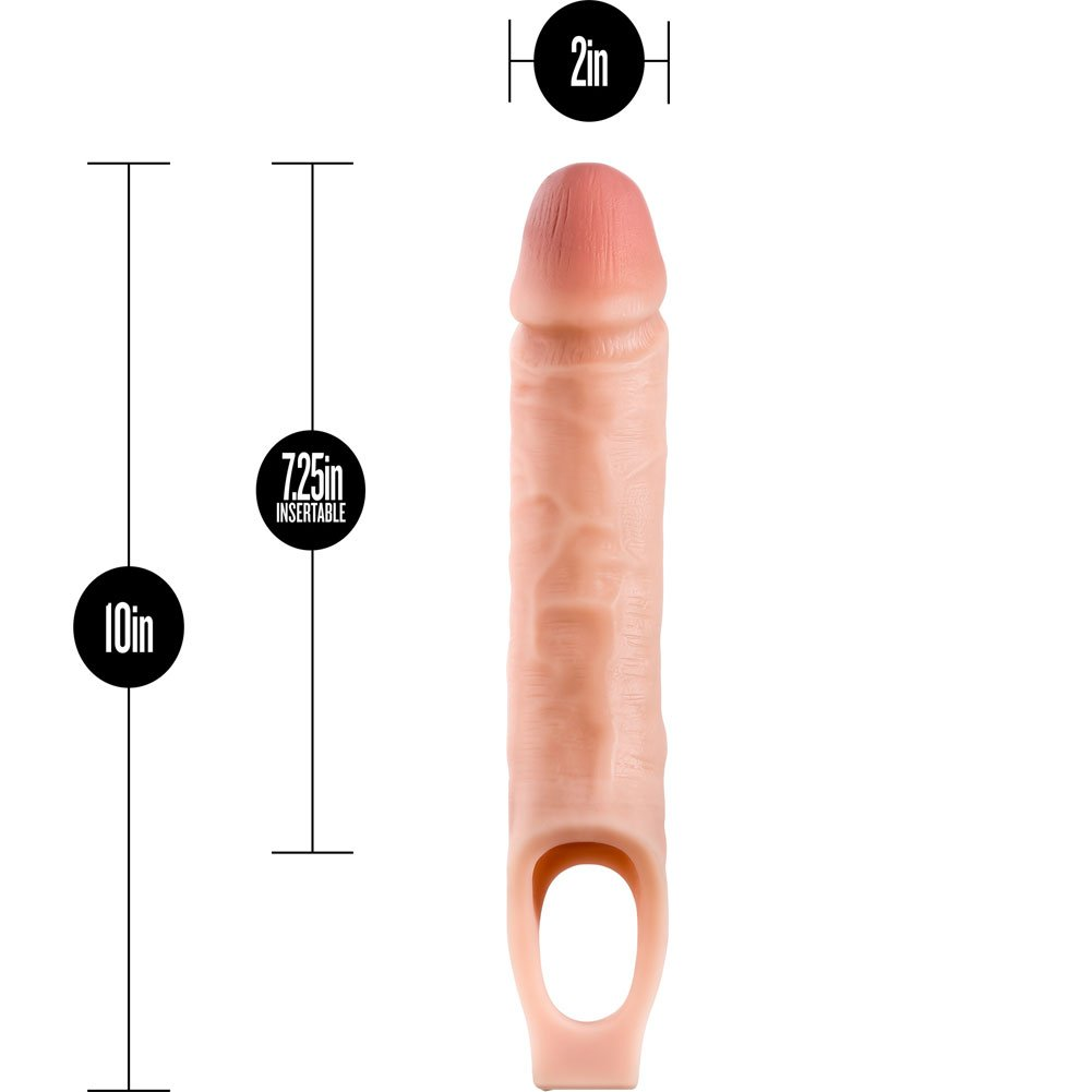 """1.5"""" Extra Length Performance Penis Extension with Ball Strap, 10"""", Vanilla"""