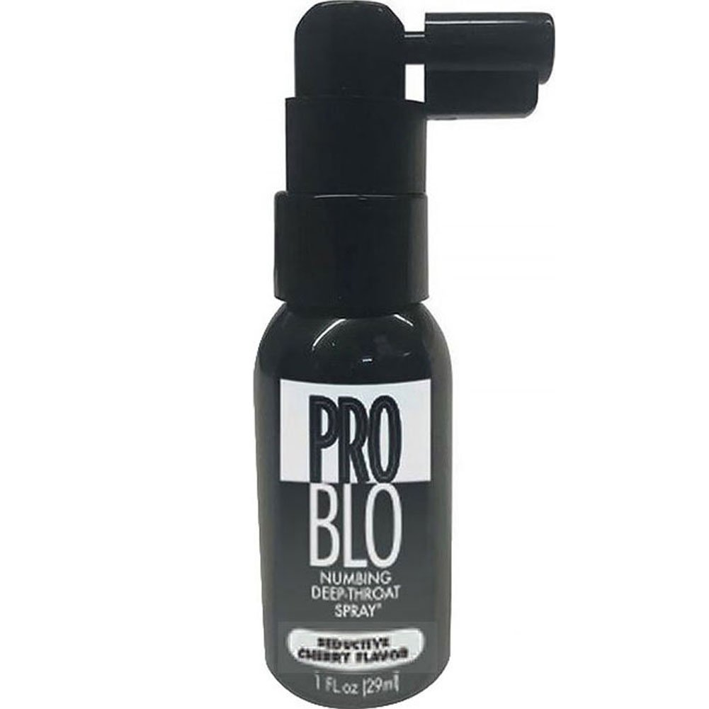 ProBlo Flavored Numbing Deep Throat Spray, 1 Fl.Oz (29 mL), Cherry