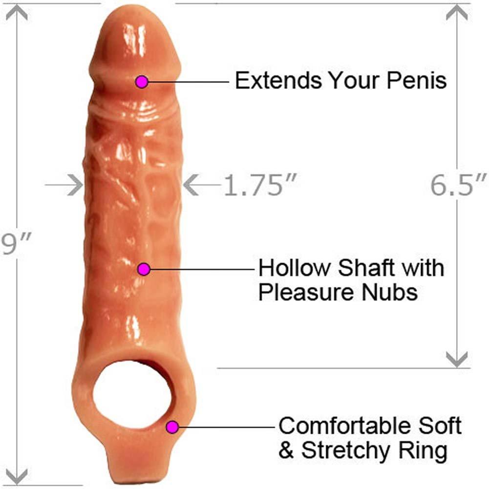"Mamba Cock Sheath Penis Extender, 9"", Flesh"
