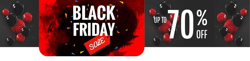 Up to 70% OFF Black Friday Weekend Sale