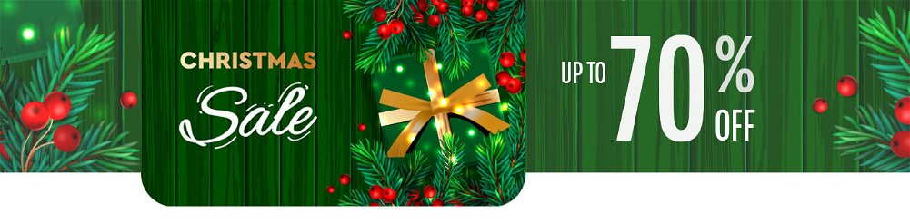 Up to 70% OFF Christmas Sale